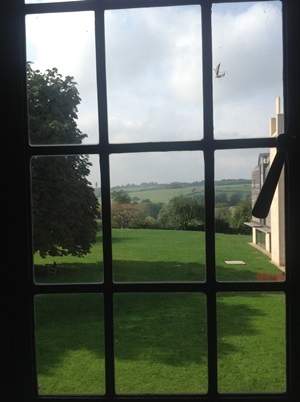 Tranquil views from Cuddesdon library