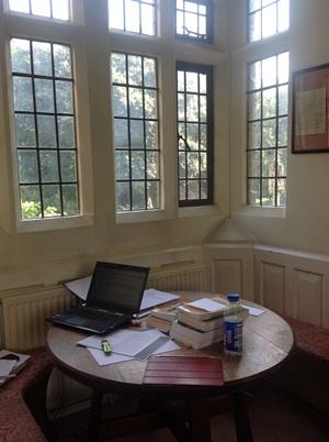 A cosy study corner