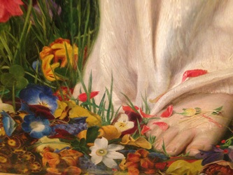 Detail from Gentle Spring by Frederick Sandys (1829-1904)