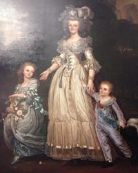 A portrait of Marie Antoinette at Versaille