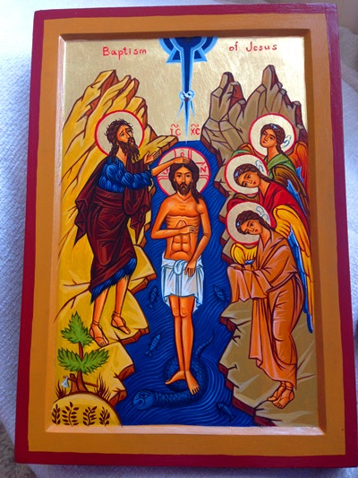 Baptism of Christ Icon - written by Tamara Rigishvili