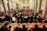 Christmas Meal in the church of Sant'Egidio