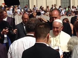 A papal audience with Pope Francis