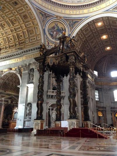 The Altar Canopy or Baldacchino, St Peter's Basilica, Rome