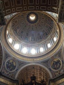 From sky to grave - St Peter's Basilca, Rome