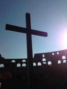 Roman Christianity -The Cross in the Colosseum