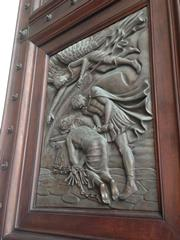 St Paul's martyrdom on the Papal door at St Paul without the Walls