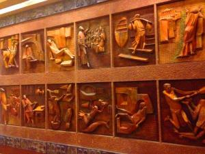 The life of St Paul depicted in carved wood panels, Vatican Museum, Rome