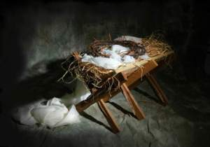 The Shadow of the Cross Across The Manger