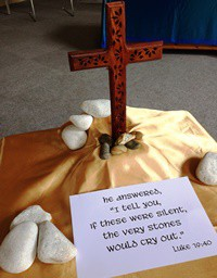 """if these were silent,  the very stones  would cry out."""" Luke 19:40"""
