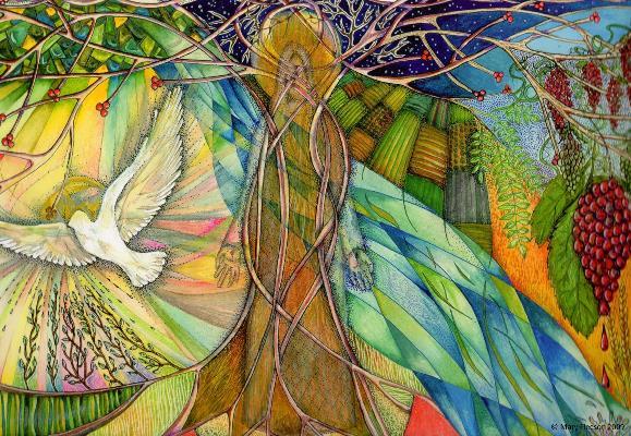 Tree of Life, © Mary Fleeson, 2009, www.lindisfarne-scriptorium.co.uk