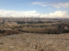 Looking toward Jerusalem over the Kidron Valley