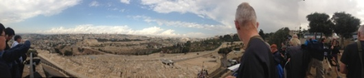 Panoramic view from the Mount of Olives