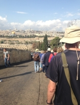 Walking down into the Kidron Valley